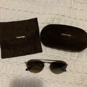 """Tom Ford """"Keith"""" aviator sunglasses."""